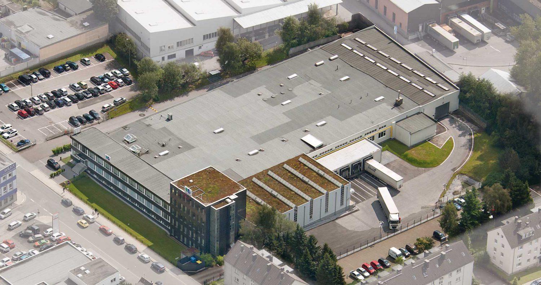 Firmengebäude von R+M de Wit in Velbert