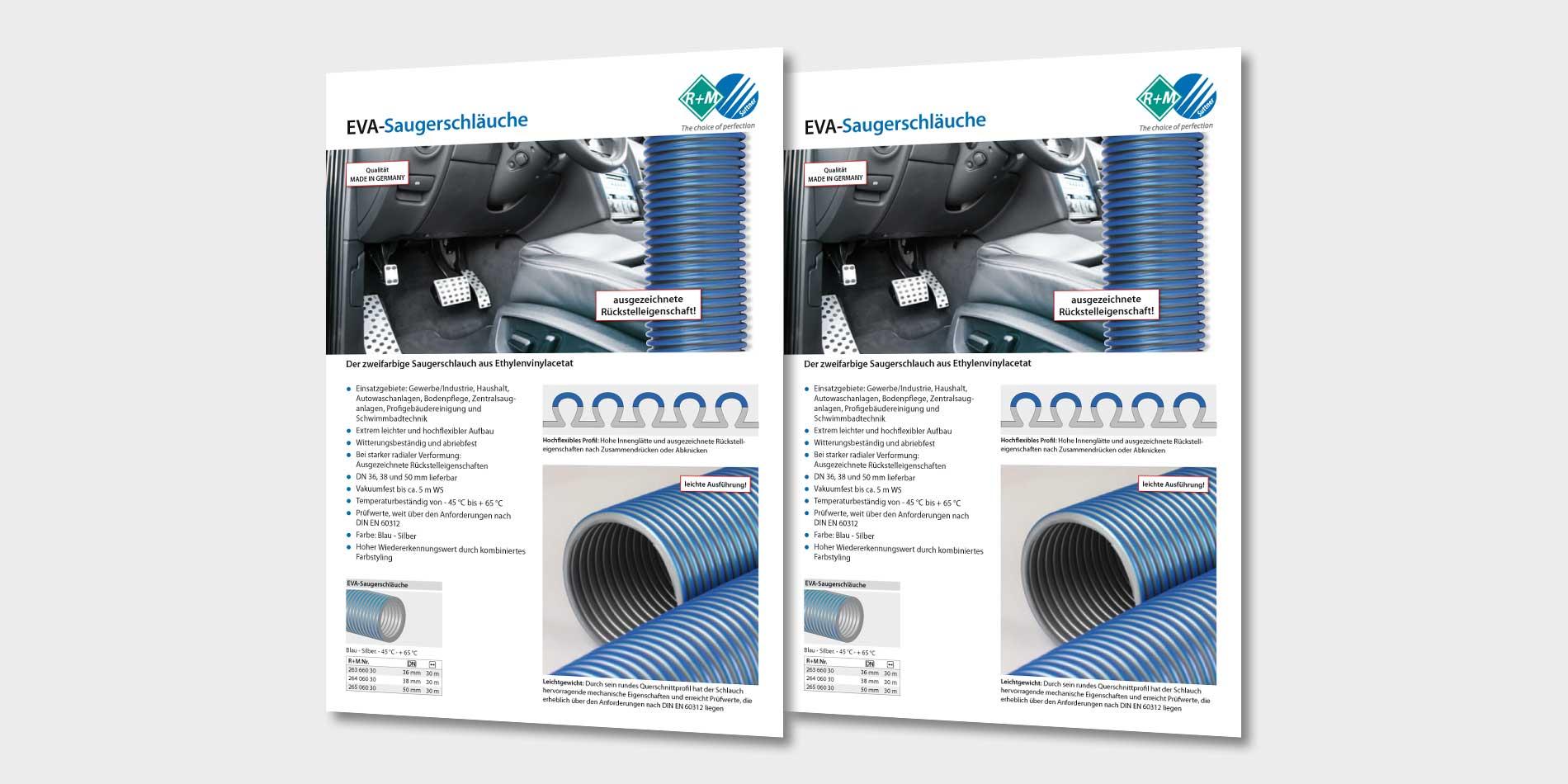 Saugerschlauch für Gewerbe, Industrie, Haushalt und Autowaschanlagen von R+M / Suttner