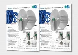 Hochdruckschlauchaufroller ST-71 von R+M / Suttner ist für die Lebensmittelindustrie geeignet