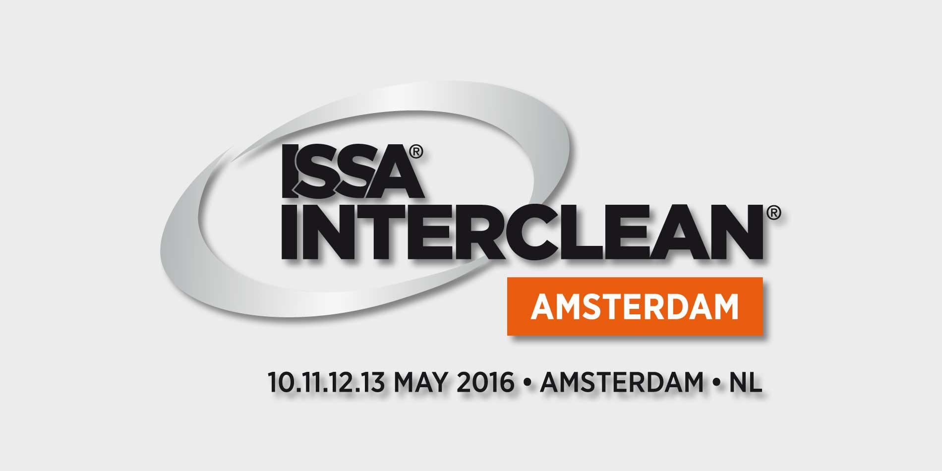 Messebanner der ISSA INTERCLEAN in Amsterdam