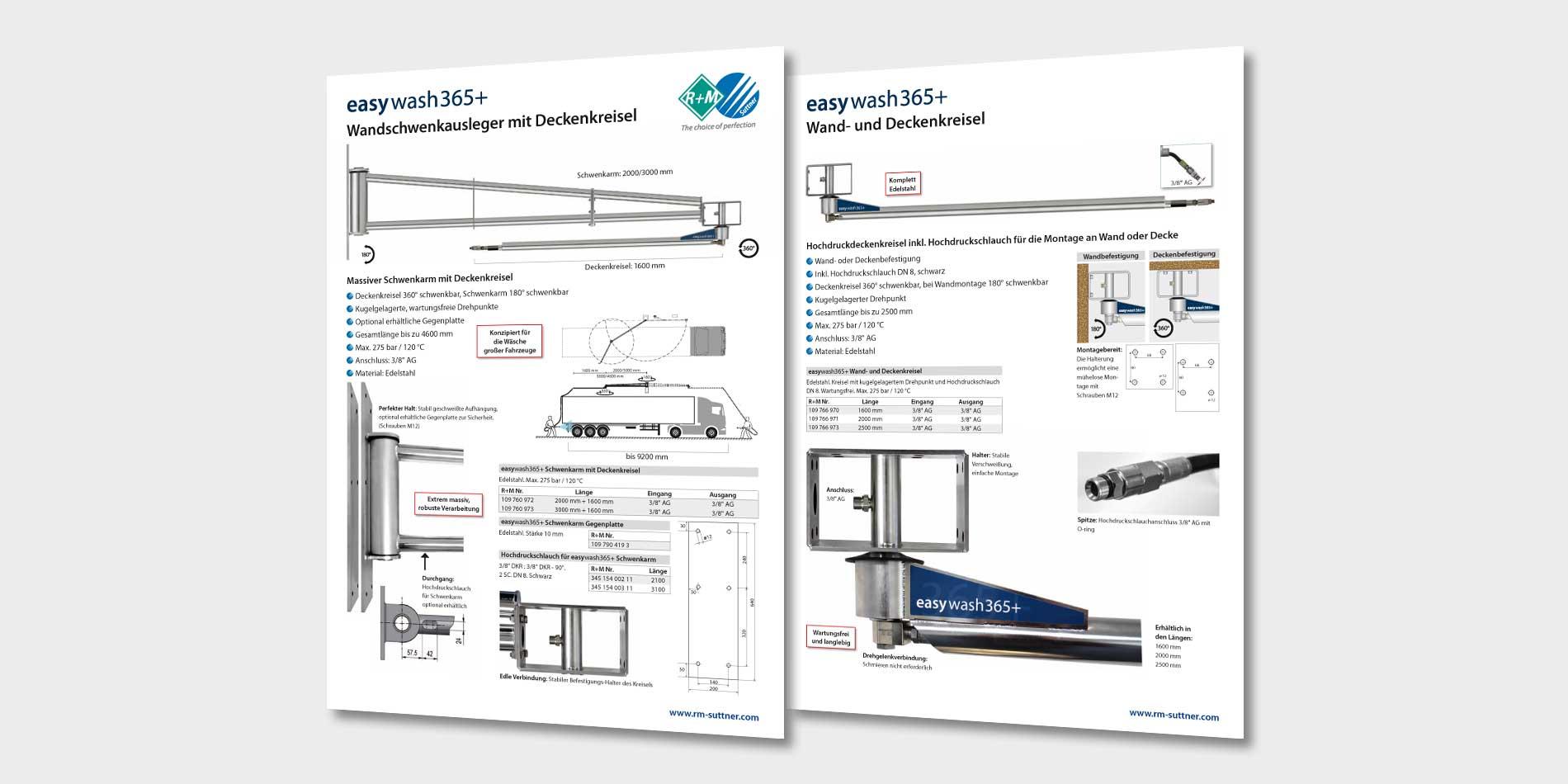 Car Wash Deckenkreisel und Wandschwenkausleger von R+M / Suttner