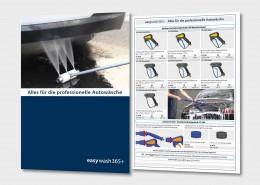 Alles für die professionelle Autowäsche finden Sie in der Broschüre easywash365+