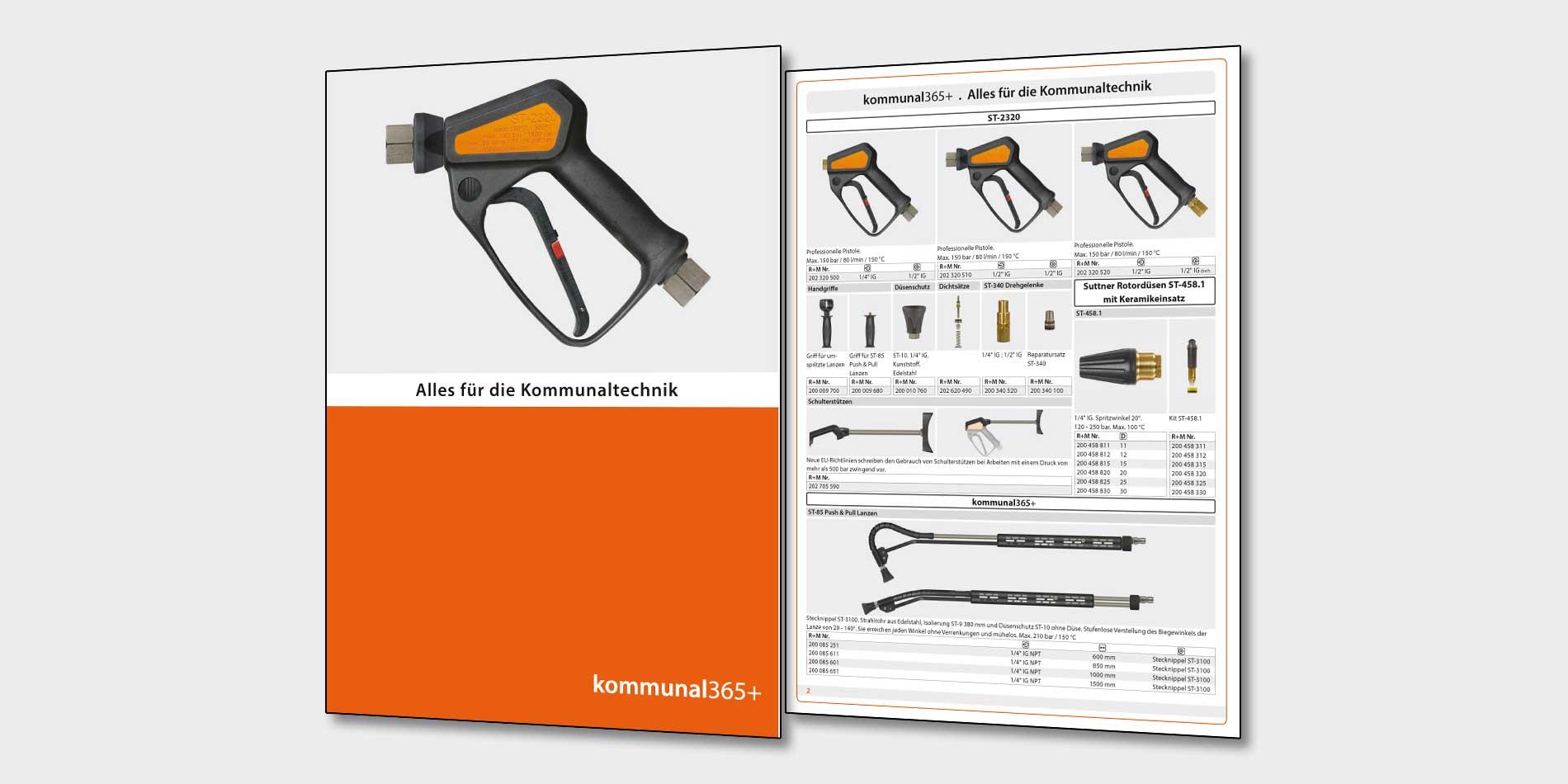 Die Broschüre kommunal365+ von R+M / Suttner: Alles für die Kommunaltechnik