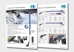 Pistole, Strahlrohr und Waschbürste mit turbofoam365+ Luftinjektor von R+M / Suttner