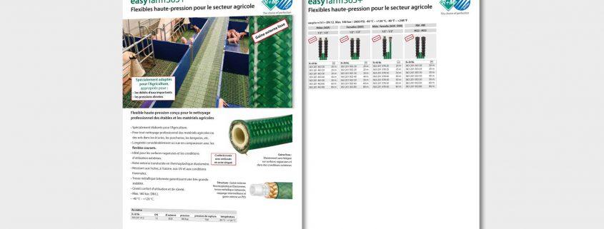 Flexible haute-pression conçu pour le nettoyage professionnel des étables et les matériels agricoles.