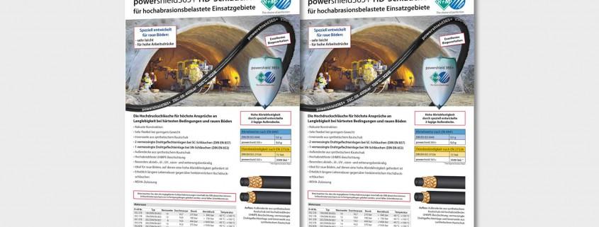 powershield365+ HD-Schläuche für hochabrasionsbelastete Einsatzgebiete