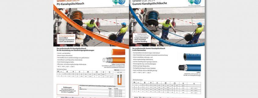 sewerstar365+ und sewerclean365+ Kanalspülschläuche für die Ausstattung von Kanalreinigungsfahrzeugen