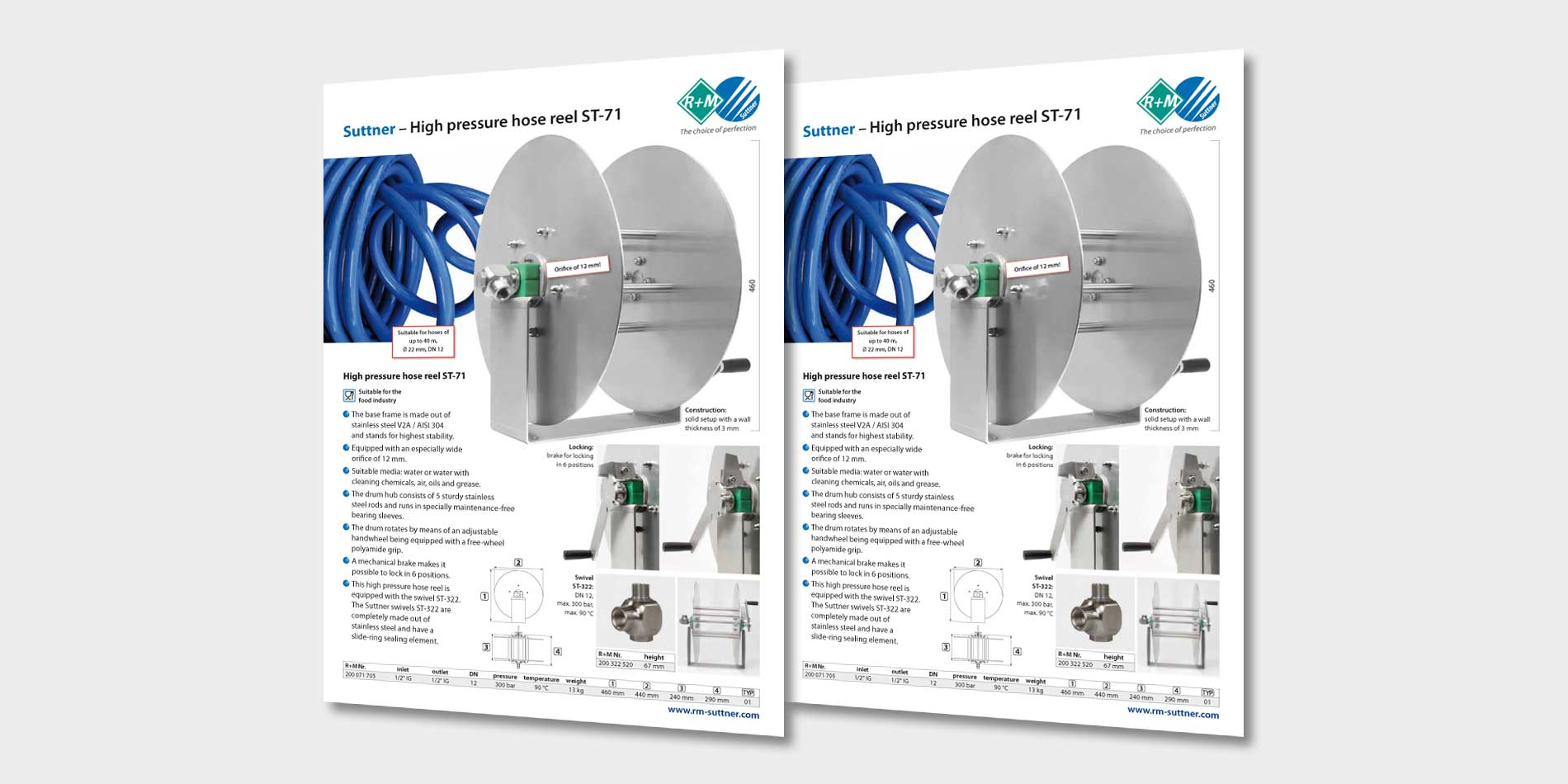 High pressure hose reel ST-71