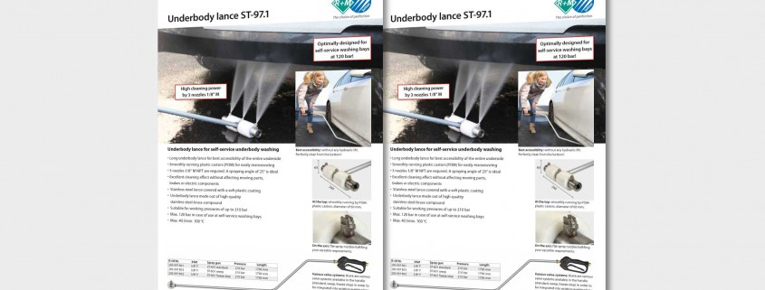 Underbody lance ST-97.1 for self-service underbody washing