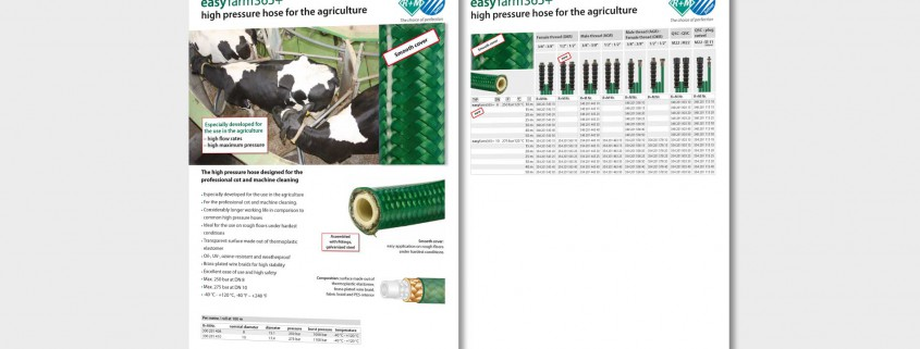 easyfarm365+ High pressure hoses for the agriculture