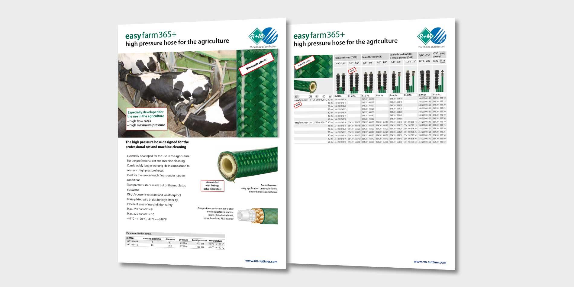 easyfarm365+ High pressure hoses for the agriculture