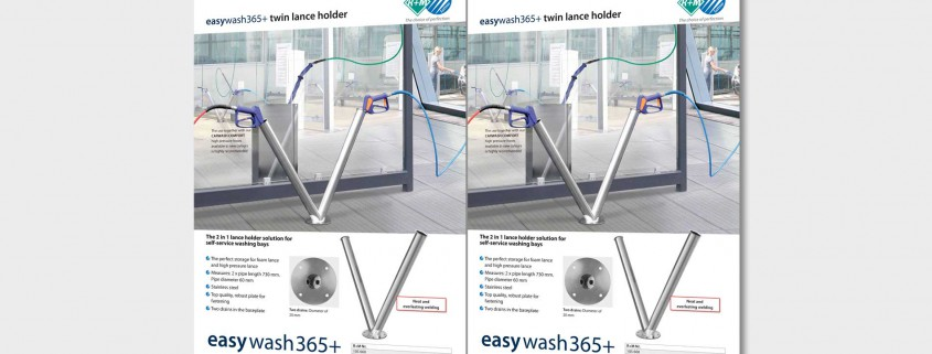 The 2 in 1 lance holder solution for self-service washing bays