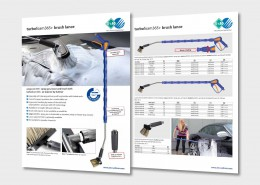 easywash365+ spray gun, lance and brush with turbofoam365+ air injector by R+M / Suttner