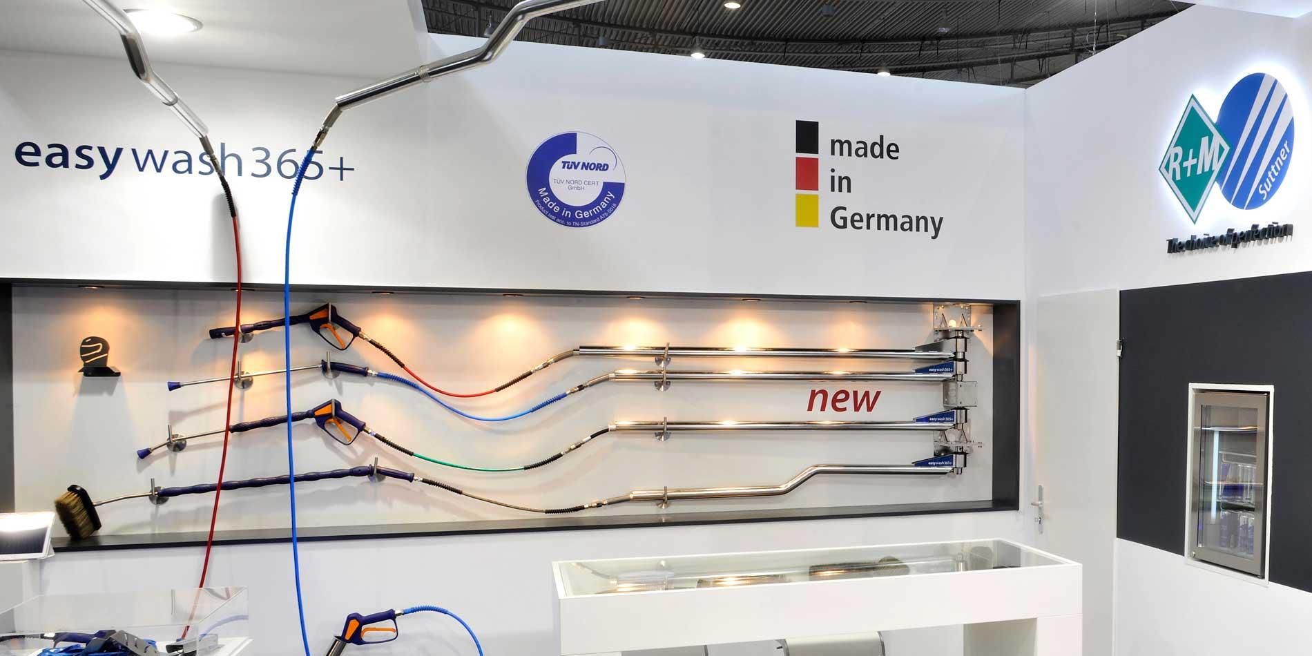 Unser Messestand auf der Messe Uniti Expo in Stuttgart mit Deckenkreisel
