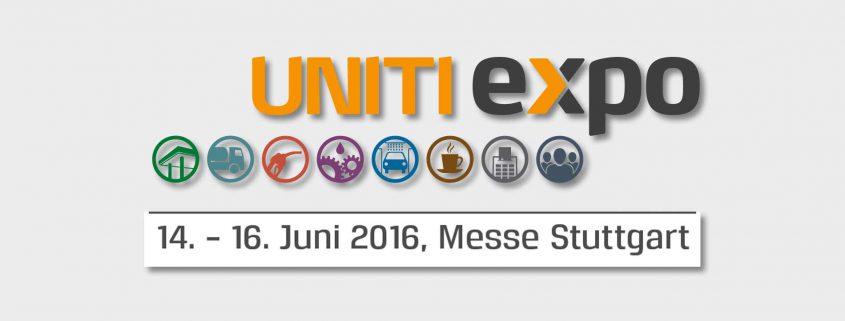 Messebanner der UNITI expo in Stuttgart