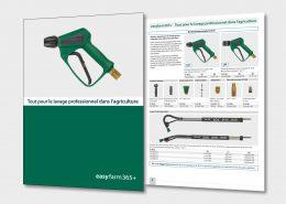 Brochure : Tout pour le nettoyage professionnel des matériels agricoles ou des sols dans les écuries, les porcheries, les bergeries, etc.