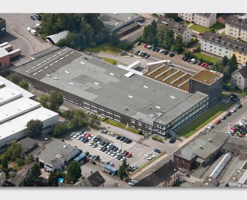 Luftaufnahme Firmengelände R+M de Wit in Velbert