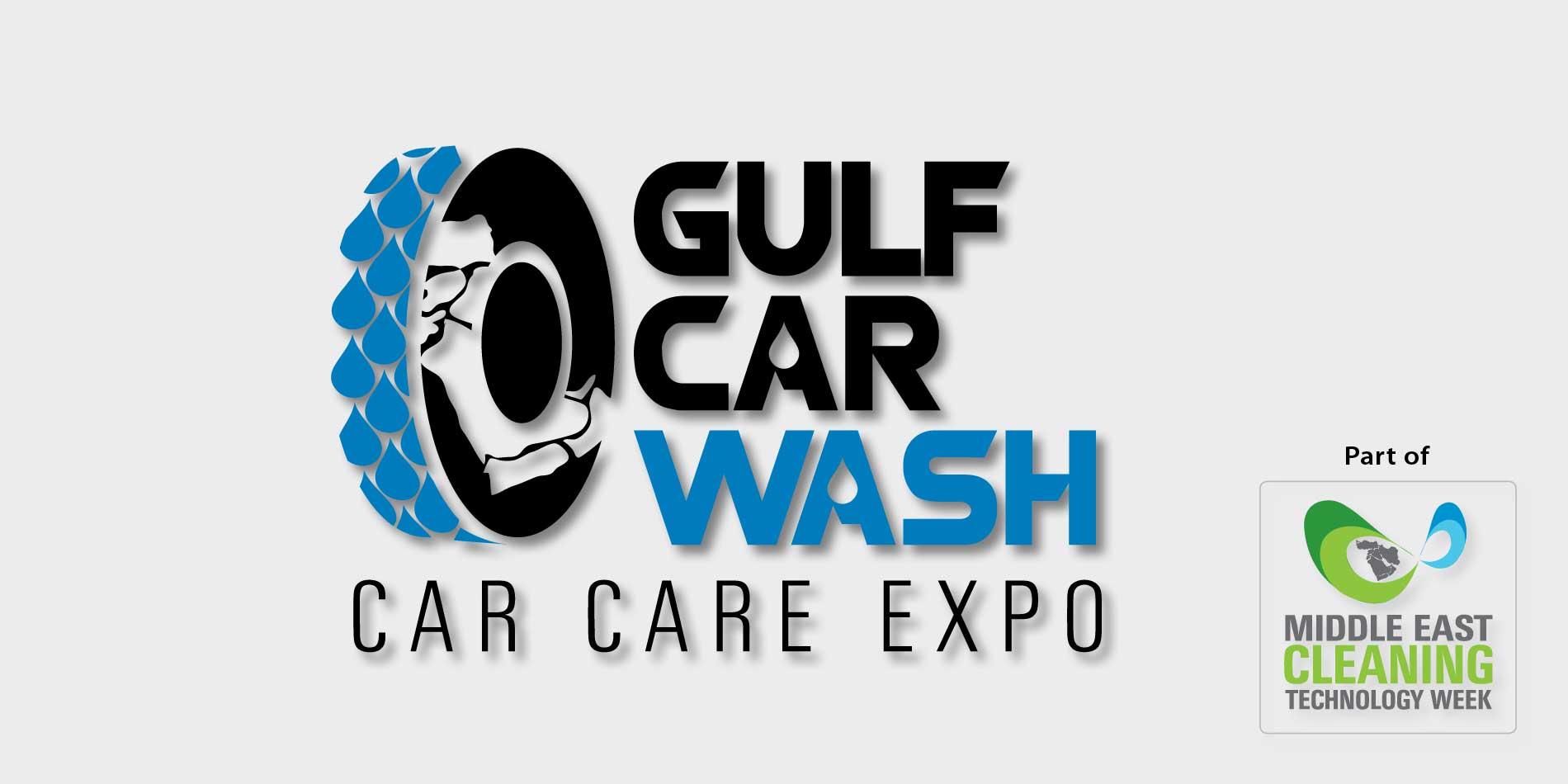 Messebanner der Gulf Car Wash – Car Care Expo