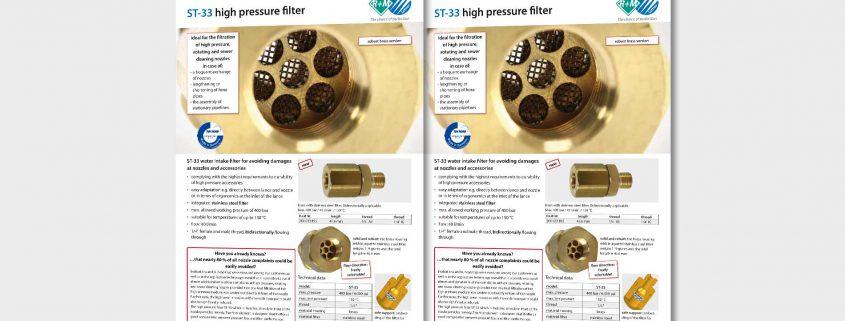 ST-33 high pressure filter, robust brass version