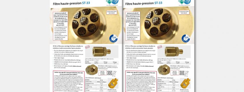 Filtre haute-pression ST-33