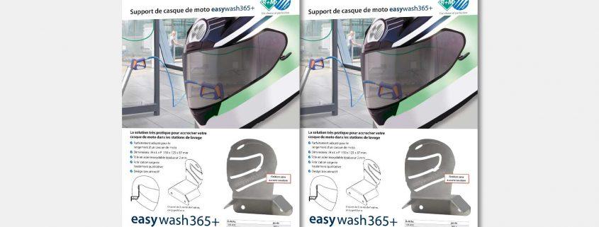 Support de casque de moto easywash365+