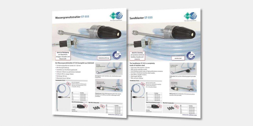 Der Wassergranulatstrahler ST-555 von R+M / Suttner