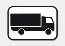 Im Online-Katalog werden die Versandkosten mit dem LKW-Symbol gekennzeichnet