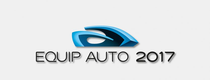 Messebanner der Equip Auto 2017 in Paris