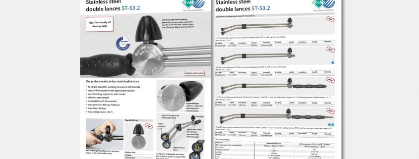 stainless steel double lances