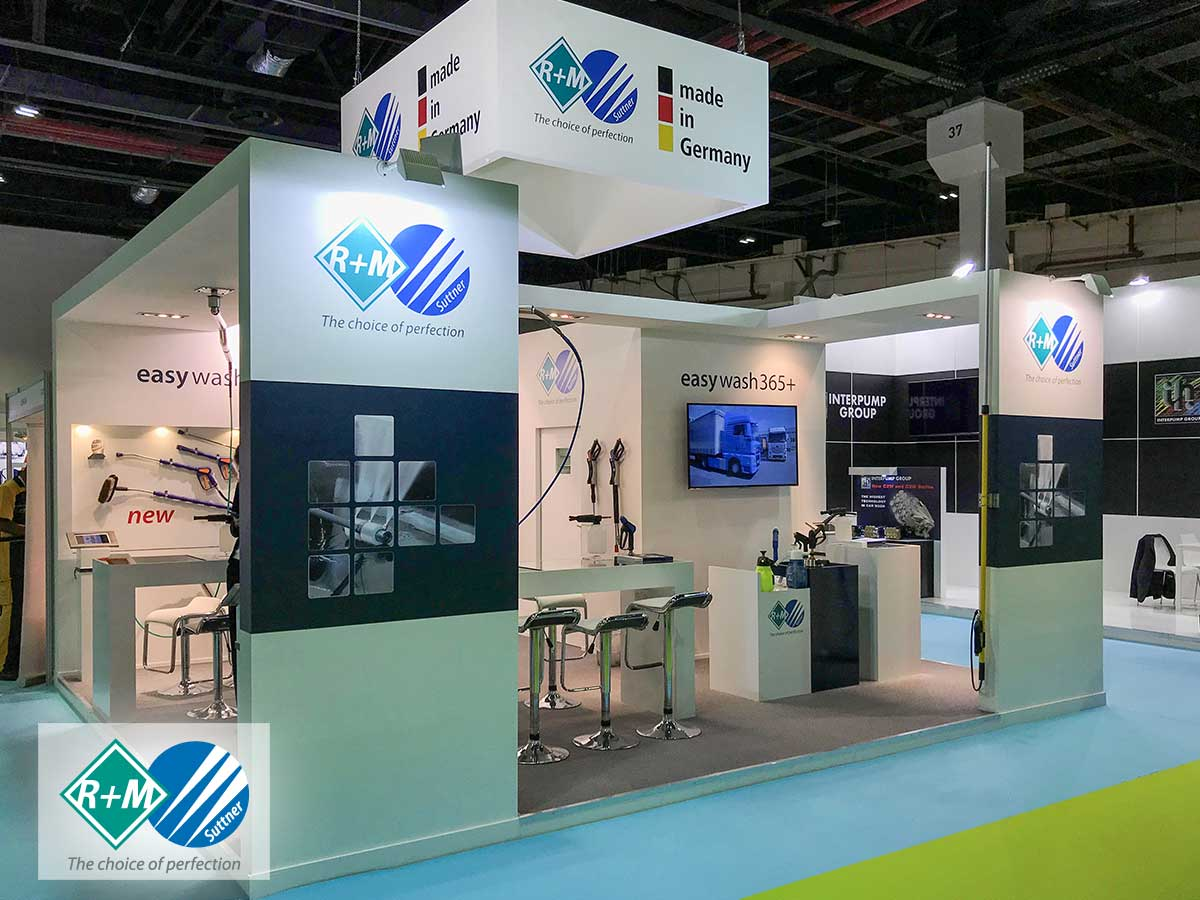 RM / Suttner auf der Gulf Car Wash – Car Care Expo in Dubai 2017.