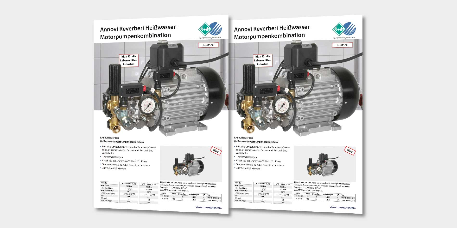 Annovi Reverberi Heißwasser- Motorpumpenkombination