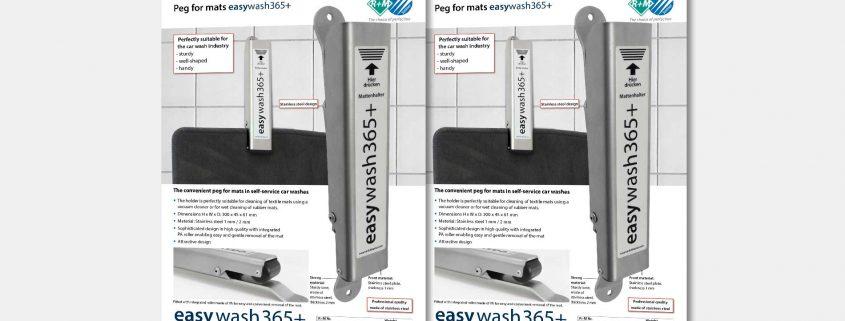 Peg for mats easywash365+