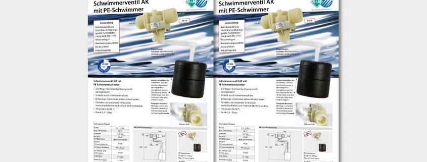 Schwimmerventil AK mit PE Schwimmerzylinder