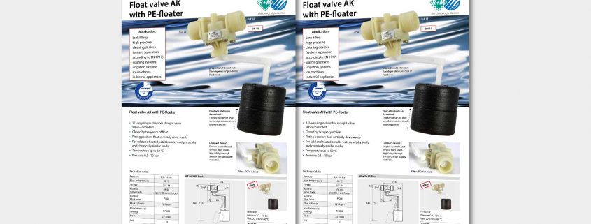 Float valve AK with PE-floater