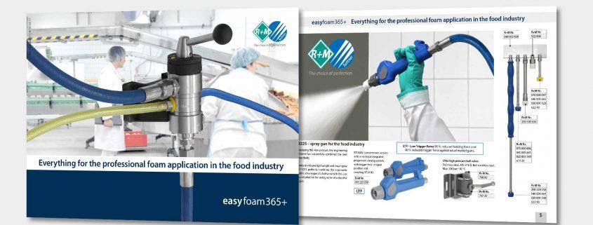 easyfoam365+ Alles für die professionelle Schaumanwendung in der Lebensmittelindustrie