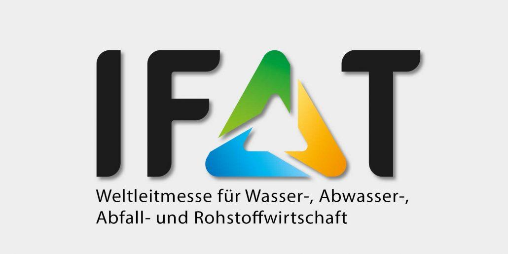 Messankündigung für die IFAT 2018 in München