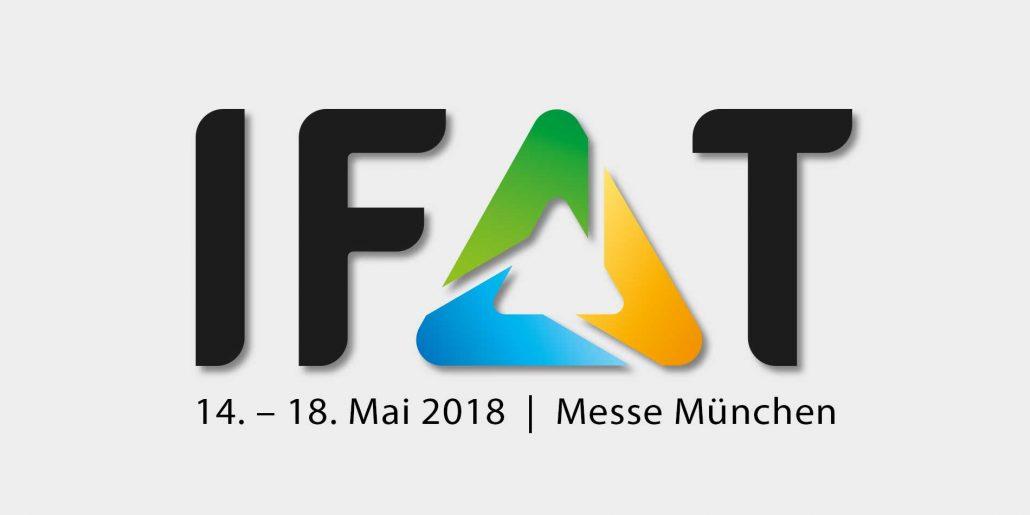 Wir stellen aus auf der IFAT 2018 in München