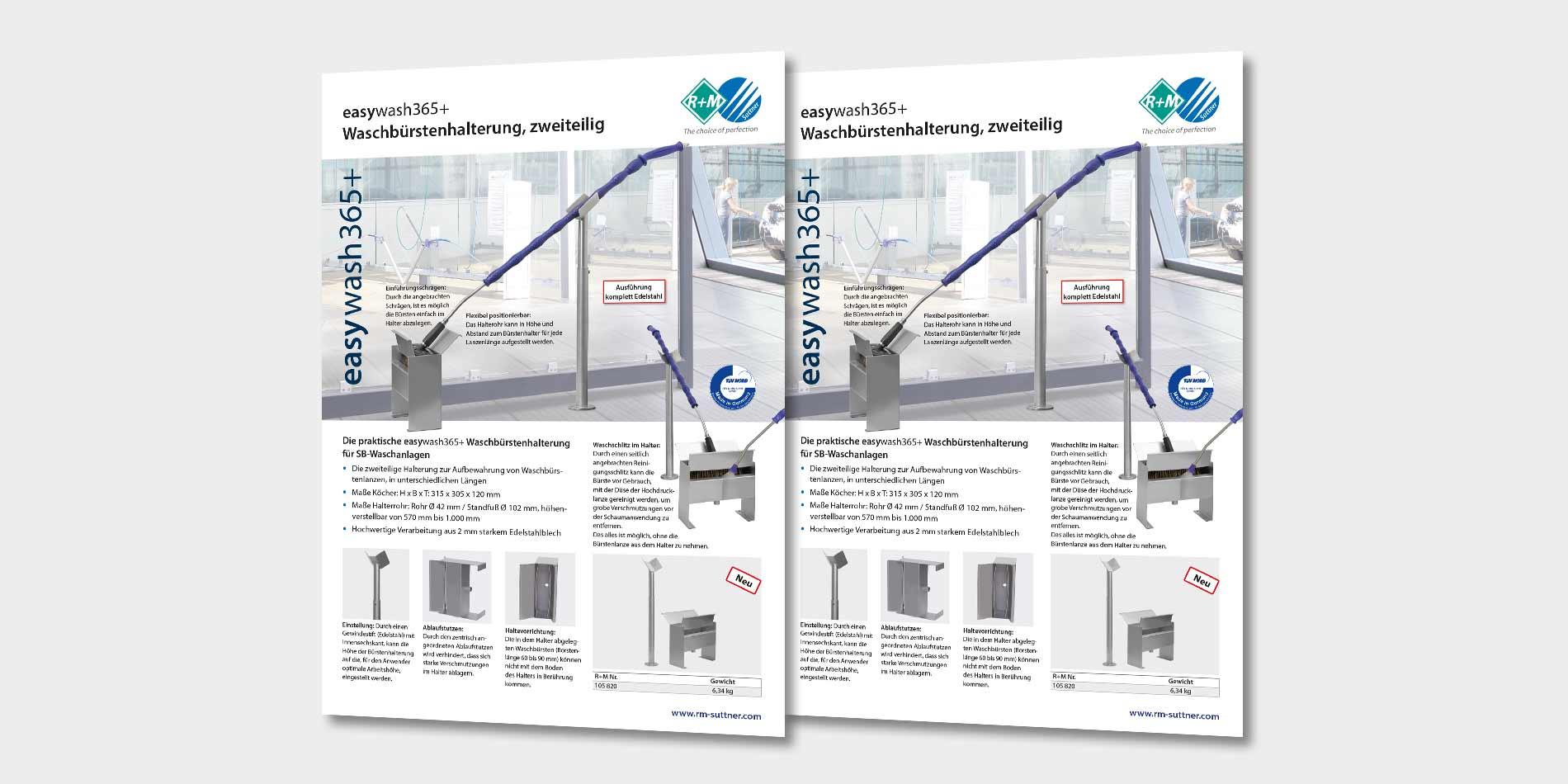 easywash365+, Waschbürstenhalterung zweiteilig