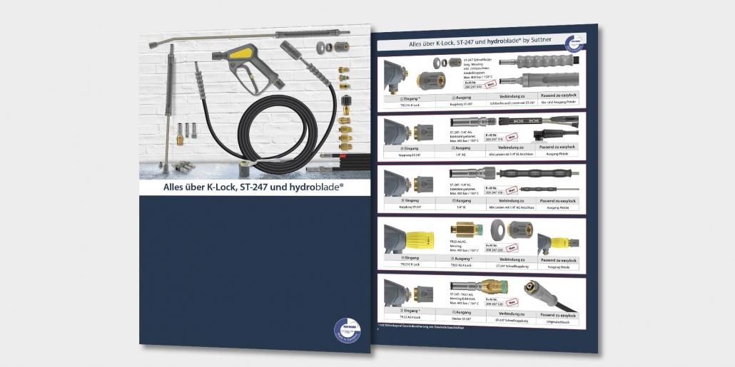 Broschüre über K-Lock, ST-247 und hydroblade®