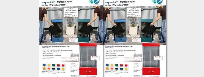 farbiger Mattenklopfer für SB-Waschanlagen
