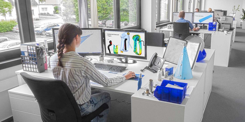 In der Entwicklungsabteilung von Suttner entstehen die Systemlösungen für die professionelle Reinigungstechnik