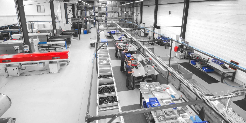 Die Montagehalle der WSI Innovation GmbH