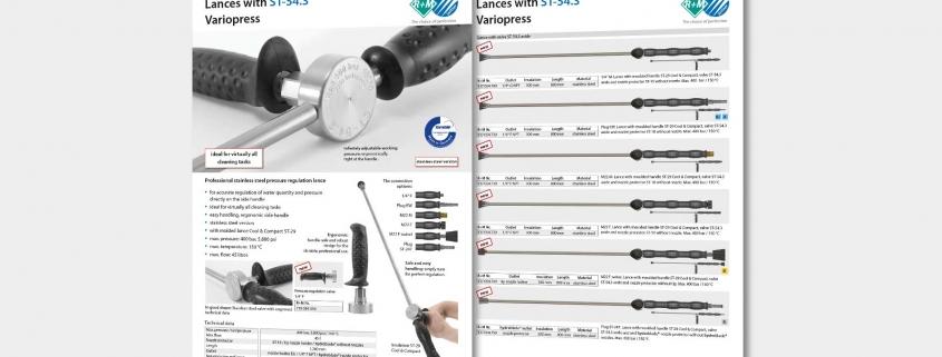 Professional stainless steel pressure regulation lance