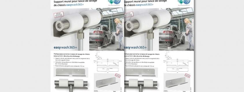 Support mural pour lance de lavage de châssis easywash365+