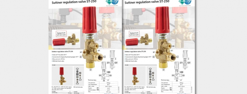 Regulation valve ST-150