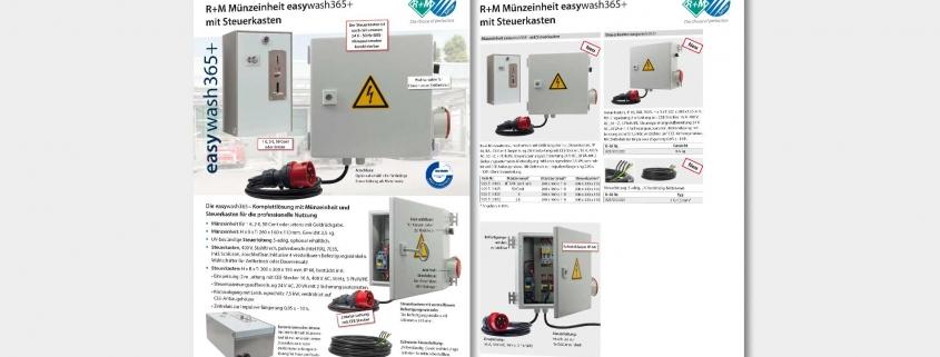 easywash365+ Münzautomat mit Steuerkasten