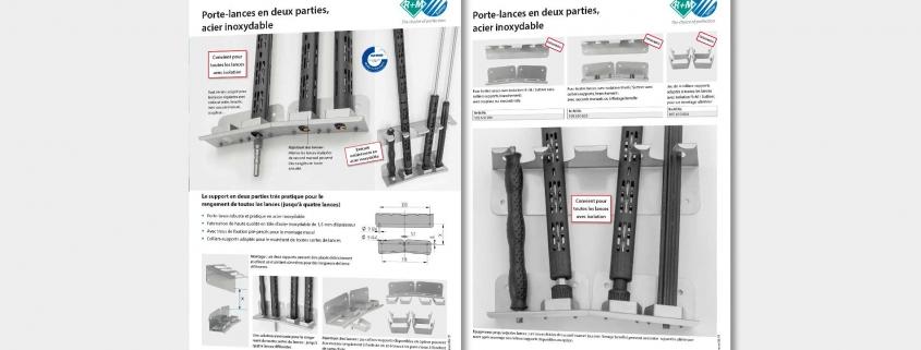Le support en deux parties très pratique pour le rangement de toutes les lances (jusqu'à quatre lances)