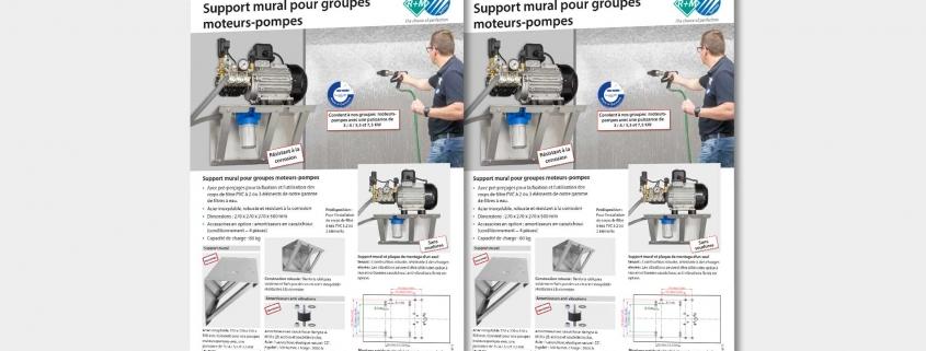 Support mural pour groupes moteurs-pompes
