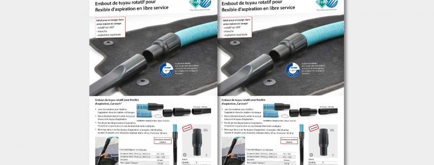 Embout de tuyau rotatif pour flexible d'aspiration en libre service