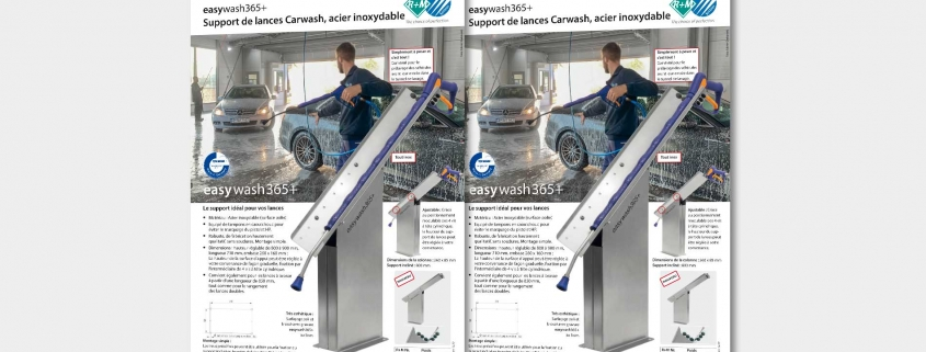 Support de lances Carwash, acier inoxydable
